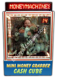 Money Grabber Jr. Table Top Money Machine / Portable Cash Cube / Money Blowing Machine