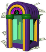 Inflatable Juke Box Cash Cube Money Machine